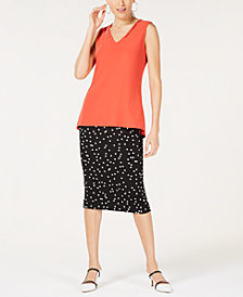 Alfani Beaded Top & Printed Skirt, Created for Macy's