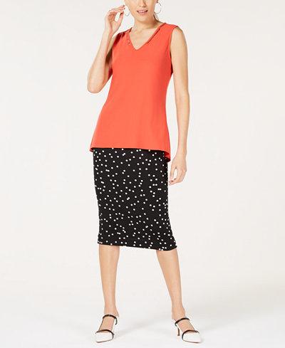 f0928cb4d3109 Alfani Beaded Top   Printed Skirt