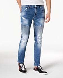 I.N.C. Men's Destructed Moto Skinny Jeans, Created for Macy's