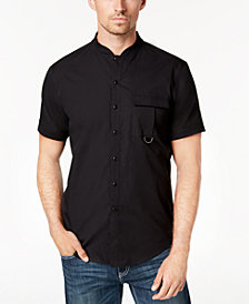 I.N.C. Men's Banded Collar Shirt, Created for Macy's