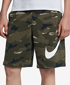 Nike Men's Sportswear French Terry Camo-Print Shorts