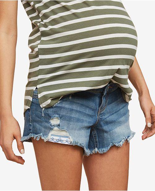 Indigo Blue Motherhood Maternity Denim Shorts