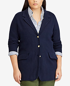 Lauren Ralph Lauren Plus Size Cotton Blazer
