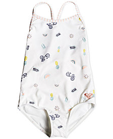Roxy Toddler Girls Printed One-Piece Swimsuit