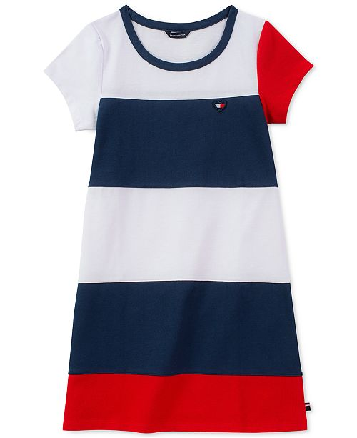 bbdadd5daa8b6c Tommy Hilfiger Big Girls Colorblocked Jersey Dress & Reviews ...