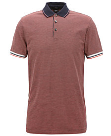 BOSS Men's Slim-Fit Cotton Patterned Polo