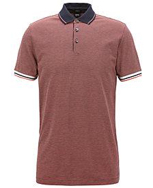BOSS Men's Slim-Fit Cotton Patterned Polo