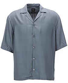 BOSS Men's Relaxed-Fit Printed Silk Shirt