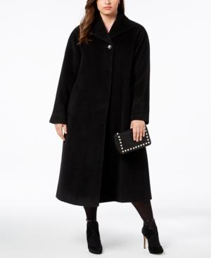 1950s Jackets, Coats, Bolero | Swing, Pin Up, Rockabilly Jones New York Plus Size Wool-Blend Maxi Walker Coat $279.99 AT vintagedancer.com
