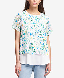DKNY Layered-Look Top, Created for Macy's