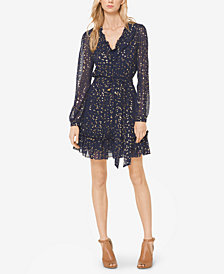 MICHAEL Michael Kors Metallic Star-Print Dress