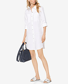 MICHAEL Michael Kors Poplin Shirtdress