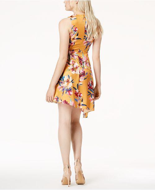 Dress Macy's III Alma Asymmetrical Flower for Created Printed Bar qnR4tpw4