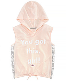 Barbie Big Girls Sleeveless Hoodie