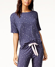 Jenni by Jennifer Moore Graphic-Pocket Pajama Top, Created for Macy's