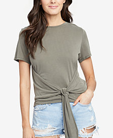 RACHEL Rachel Roy Cropped Tie-Front T-Shirt, Created for Macy's