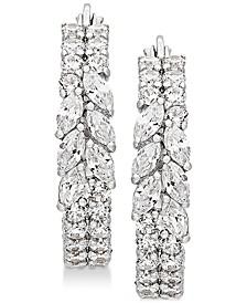 Swarovski Zirconia Hoop Earrings in Sterling Silver