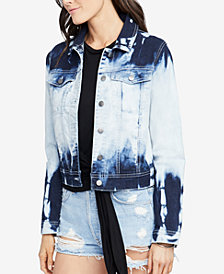 RACHEL Rachel Roy Tie-Dye Denim Jacket, Created for Macy's