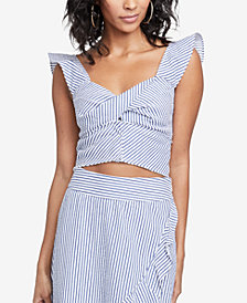 RACHEL Rachel Roy Esta Twisted Cotton Crop Top, Created for Macy's