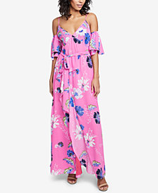 RACHEL Rachel Roy Printed Ruffled Cold-Shoulder Dress, Created for Macy's