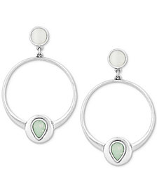 Lucky Brand Silver-Tone & Stone Drop Earrings
