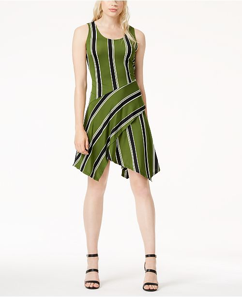 Hem Bar for Macy's Mirror Handkerchief Created III Stripe Dress Sleeveless tvvwZqR