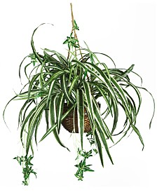 Nearly Natural Spider Artificial Plant Hanging Basket