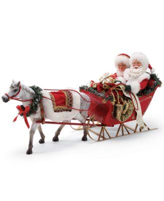 Possible Dreams One-Horse Open Sleigh Santa Figurine