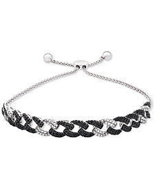 Wrapped in Love™ Diamond Link Bolo Bracelet (1 ct. t.w.) in 14k White Gold, Created for Macy's