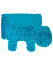 Popular Bath Fluff 3-Pc. Bath Rug & Lid Cover Set