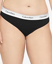 34731ae32862d Calvin Klein Plus Size Modern Cotton Thong QF5117