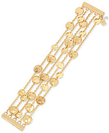 Robert Lee Morris Soho Gold-Tone Disc Multi-Row Magnetic Bracelet