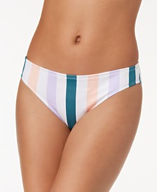 Hula Honey Juniors' Striped Hipster Bikini Bottoms, Created for Macy's