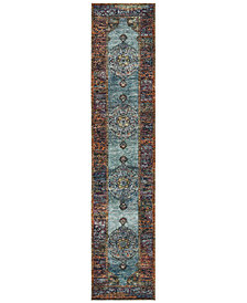 "Macy's Fine Rug Gallery Journey Ardebil Blue 2' 6"" x 12' Runner"