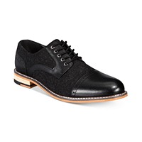Bar III Men's Frankie Perforated Oxfords (Black)