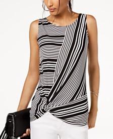 I.N.C. Sleeveless Twist Top, Created for Macy's