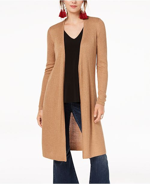 INC International Concepts I.N.C. Ribbed Duster Cardigan, Created for Macy's