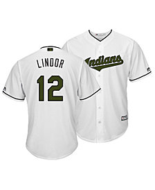 Majestic Men's Francisco Lindor Cleveland Indians USMC Cool Base Jersey
