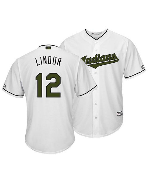 387d6e8a427 ... Men s Francisco Lindor Cleveland Indians USMC Cool Base Jersey ...