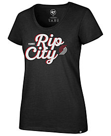 '47 Brand Women's Portland Trail Blazers Slogan Scoop T-Shirt