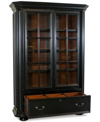 Beau Furniture Beekman Home Office Sliding Door Bookcase ...