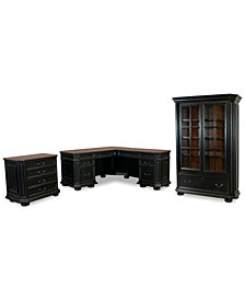 Beekman Home Office, 3-Pc. Furniture Set (Left Return Desk, File Cabinet & Bookcase)