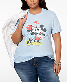 Hybrid Plus Size Cotton Disney Mickey & Minnie Mouse T-Shirt