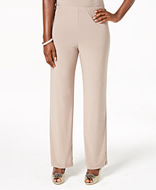 R & M Richards Pull-On Straight-Leg Pants