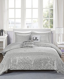 Zoey Reversible 5-Pc. Full/Queen Comforter Set