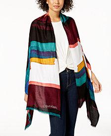 Calvin Klein Painterly Print Wrap, Created for Macy's