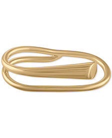 RACHEL Rachel Roy Gold-Tone Two-Finger Polished Ring