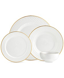 CLOSEOUT! Avea Gold 16-Pc. Service for 4 Dinnerware Set