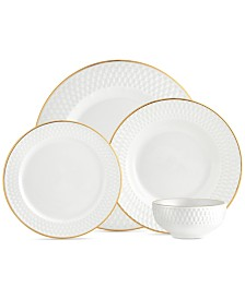 CLOSEOUT! Godinger Avea Gold 16-Pc. Service for 4 Dinnerware Set
