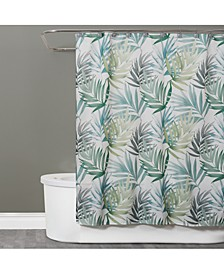 "Maui Textured Palm-Print 70"" x 72"" Shower Curtain"